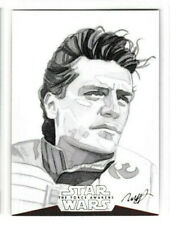 Poe Dameron 2016 Topps Star Wars The Force Awakens SKETCH CARD 1/1 Hendrickson