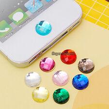 10pcs Color Diamond Rhinestone Home button Sticker For iPhone 4 4S 5 iPod iPad