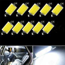 10 Pcs 6000-7000k 42MM Festoon Car White COB LED Map Dome Interior Lights Bulbs