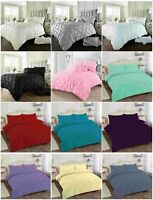 Alford / PinTuck Duvet Quilt Cover with Pillowcase Cover Bedding Set All size
