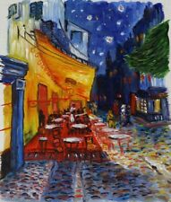 Van Gogh Cafe Terrace at Night Painted on Location in Arles France 2002 Vintage