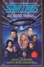 """Star Trek The Next Generation Novel """"All Good Things"""" Includes 8 Pages of Photos"""