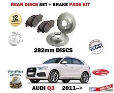 FOR AUDI Q3 1.4 2.0 TFSI TDI 2011-> REAR BRAKE 282mm DISCS SET + DISC PADS KIT