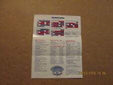 MLB Los Angeles Dodgers Vintage 1989 Schedule Ticket Informatiom W/Player Photos