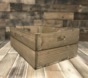 Rustic Wooden Shallow Apple Crate Box