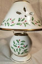 New ListingLenox Holiday Votive Lamp Christmas Holly Berry Candle Holder