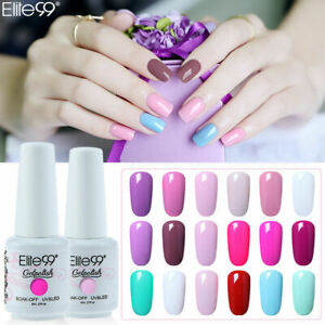 Elite99 Soak Off Colour Gel Nail Polish Top Base Coat UV LED Manicure Varnish