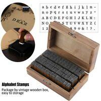 70pcs/Set Alphabet Stamps Vintage Wooden Rubber Letter Number & Symbol Stamp USA
