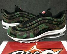 "标题:New Nike Air Max 97 Premium QS ""US Camo"" - Size 10 - Green/Black - AJ2614-201"