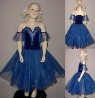 Blue Danube Dance Costume Ballet Tutu Romantic Princess Dress New Child X-Small
