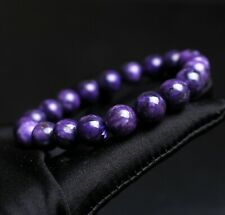 Crystal Gemstone Beads Bracelet 10mm Natural Purple Charoite