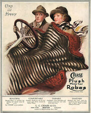 Chase Plush Motor Car Robes COUPLE UNDER BLANKET Convertible 1917 Print Ad