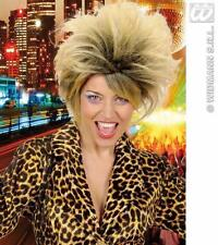 BIONDA Tina Turner Parrucca 80's Pop Star Costume