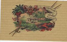 Flor de Borneo Malaysia  top wrap  cigar box label