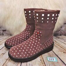 Womens I Heart UGG Australia Pink Pull On Ankle Winter Boots UK 5 EUR 38 US 7