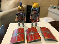 Playmobil Roman soldiers lion helmet, shields (combined shipping avail)