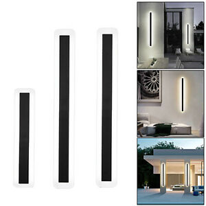 Elegant Long Wall Mounted Light Outdoor Indoor Porch Wall Lamp White Light