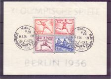 Deutsches Reich 1936 - Olympia Block 6 Sonderstempel Kiel - Michel 90,00 € (133)