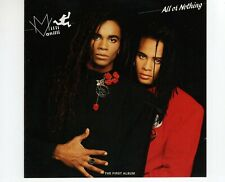 CD	MILLI VANILLI	all or nothing	GERMAN 1988 EX+	 (R2285)