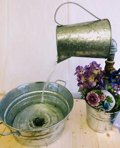 Vessel Sink, With Faucet & Drain Galvanized Bucket/Tub - Bathroom,Garden,Kitchen