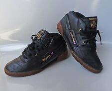 Reebok Workout R12 Peanut Butter MID ICE V45685 Black Gum SHOES SZ 10 CLASSIC