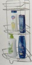 3 Tier Metal Shower Bathroom Shelf Corner Caddy Basket Shampoo Storage Shelves