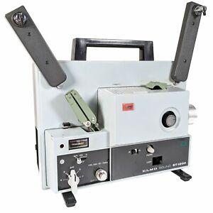 Elmo ST-1200 Super 8 8mm Sound CINE Film Projector Super F:1.1 Lens