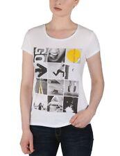 BENCH Balleau white t-shirt women maglietta donna bianca cod. C0484