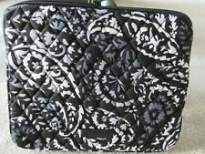 "Vera Bradley Tablet/iPad Sleeve Paisley Noir Print 10"" x 8"" New With Tag"