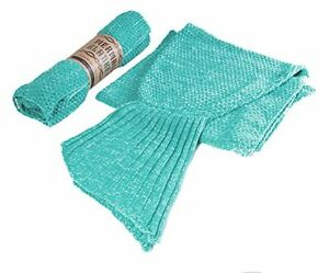 Mermaid Tail Blanket – Soft Hand Knitted Crochet Sleeping Bag Throw For Adults