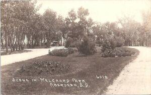 RPPC Aberdeen SD Scene in Melgaard Park 1929