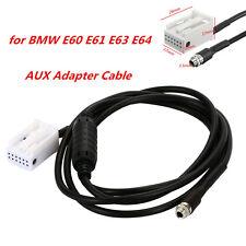 3.5mm AUX Auxiliary Audio Input Kit Ipod Adapter Cable for BMW E60 E61 E63 E64