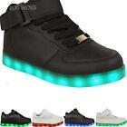 Niño Niña Zapatillas Parpadeantes LED Luminoso Lights Cargador USB Con Cordones