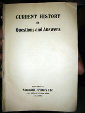 INDIA RARE & OLD - CURRENT HISTORY IN QUESTIONS AND ANSWERS PAGES 392