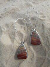 Banded Agate 925 Sterling Silver Earrings