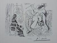 Picasso (Según ) - Papa bouche sin Palabras - Litografía Firmada, 1200ex