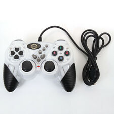 New Wired USB Gamepad Controller Joypad Dual Vibration Joystick for PC White