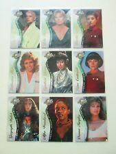 Star Trek Cinema 2000 Female Guest Stars 9 Card Chase Set F1-F9