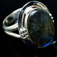Labradorite 925 Sterling Silver Ring Size 8.25 Ana Co Jewelry R11421F