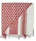 Shemagh Red  White  Kafiyah  Arab Traditional Scarf 100 cotton