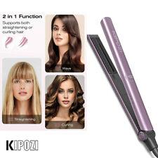 2 in 1 Salon Hair Straightener Curling iron Titanium Flat Iron KIPOZI -V5 Purple