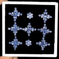 Tanzanite Natural 105 Pcs 3.5mm-6mm Mix Cut Sparkling Gemstones Wholesale Lot