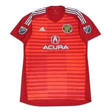 Columbus Crew SC MLS Adidas Men's Red AdiPro Short Sleeve Goalkeeper Jersey
