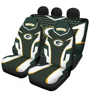 Green Bay Packers Auto Seat Covers Truck Front Rear 5 Seater Universal Protector