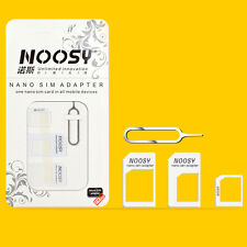 2 Set SIM Card Converter Nano to Micro Standard Adapter, iPhone 4 5 6 7 Samsung