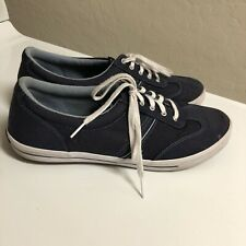 Keds Womens 10 Ortholite navy blue canvas lace-up memory foam sneakers