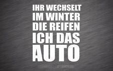 Winter Auto Aufkleber Reifenwechsel Sticker Snow Tuning Winterhobel  WA011