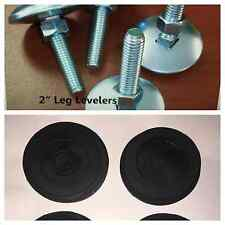 "Set of 4 Leg Levelers (2"") AND 4 Rubber Feet **NEW** ~~FREE SHIPPING~~"