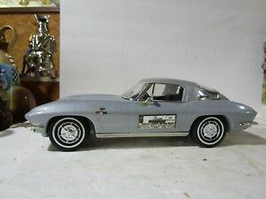 Jim Beam Silver  1963 Corvette Stingray Split Window Coupe Decanter