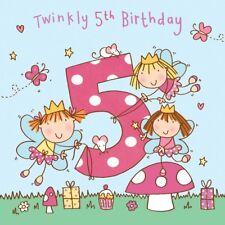5 Year Old Card -Age 5 Card - 5th Birthday Card For Girl -Girl Age 5 Card -Fairy